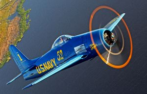 Retired Blue, Grumman F8F Bearcat