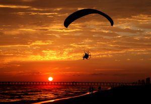 Running into the Air, Panama City Beach, Florida